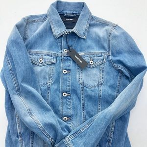 "Diesel ""Elshar"" XP Blue/Light Wash Denim Jacket"